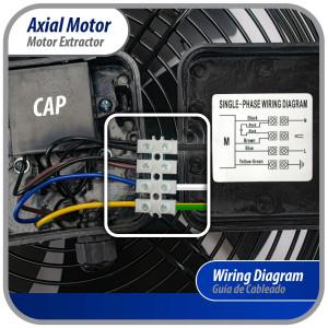 """Fan Motor Outdoor Unit Shaft 3 1/2"""" X 5/16"""" Screw YKT-53-6-15L Ydk53-6fb(B) 208-230v 53w 0.60a 60hz Ccwse 202400401241"""