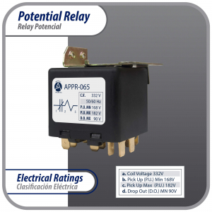 Appli Parts motor start capacitor 189-227 Mfd (microfarads) uF 110-125VAC universal fit for electric motor applications 1-7/16 in Diameter 2-3/4 in Height CON-189-110