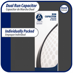 Appli Parts motor start capacitor 540-640 Mfd (microfarads) uF 250VAC universal fit for electric motor applications 1-3/4 in Diameter 4-3/8 in Height CON-540-250